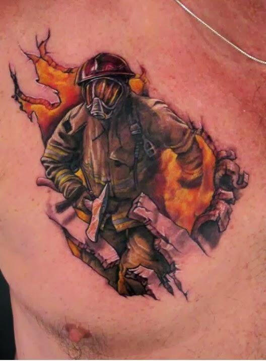 Tatuagem de Bombeiro