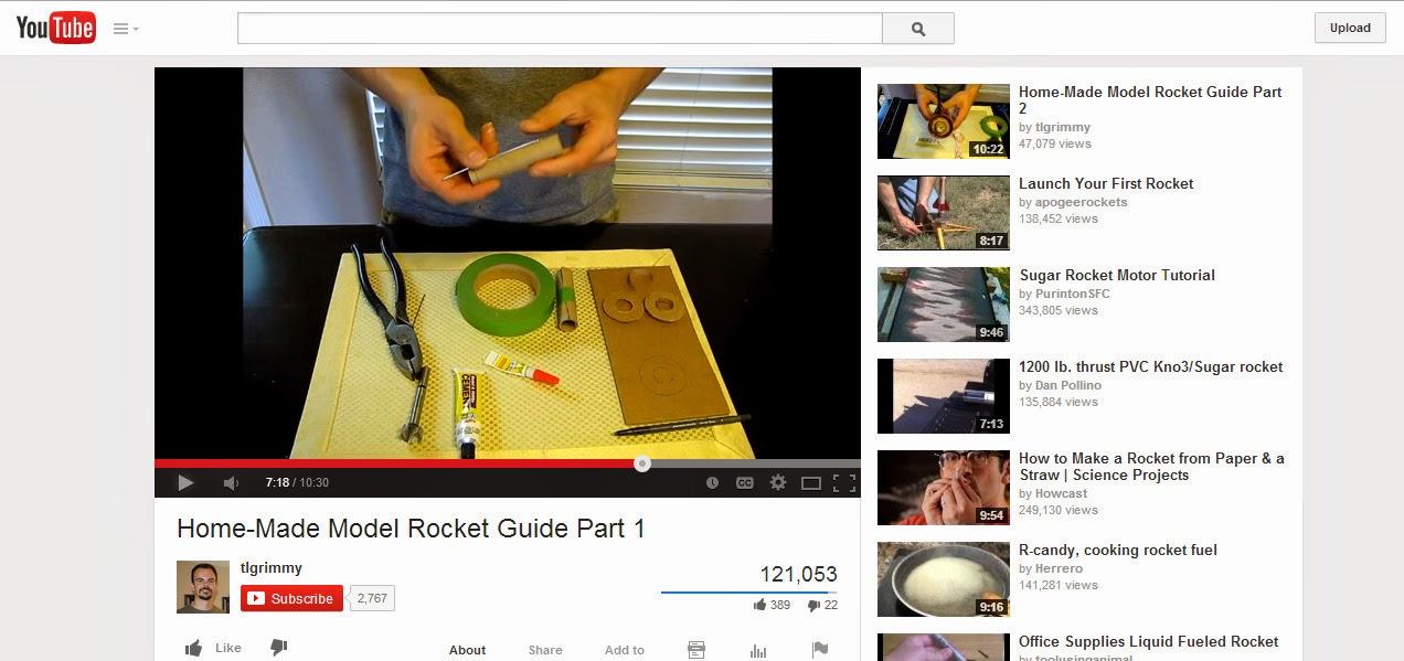 Home model rockets