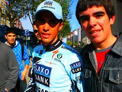 Con Alberto Contador