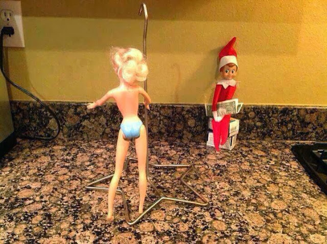 Elf on the Shelf Barbie Stripper