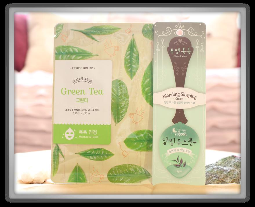 겟잇뷰티박스 by 미미박스 memebox beautybox Special #46 From Jeju unboxing review box etude house grean tea sleeping cream mask pack clean