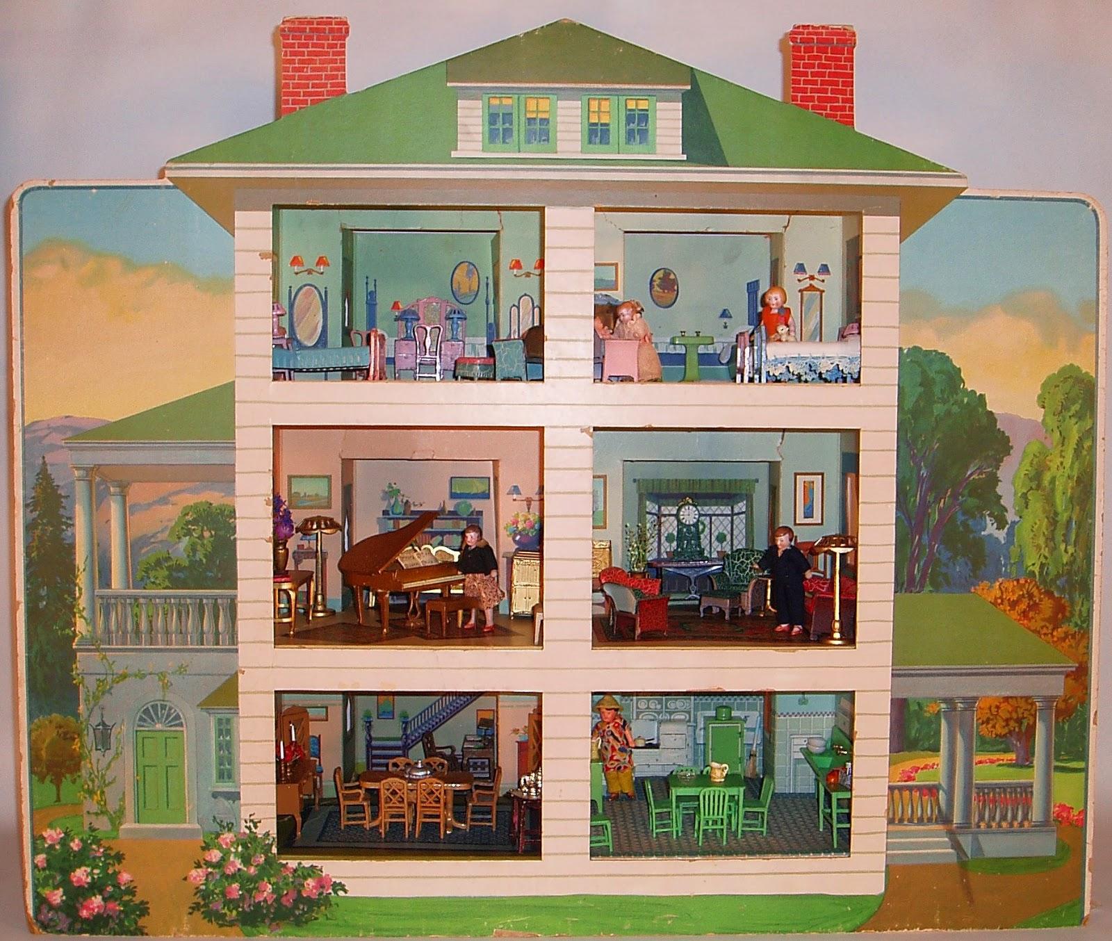 my vintage dollhouses return to wonderland