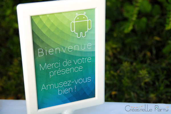 buffet android bienvenue / android sweet table welcome label