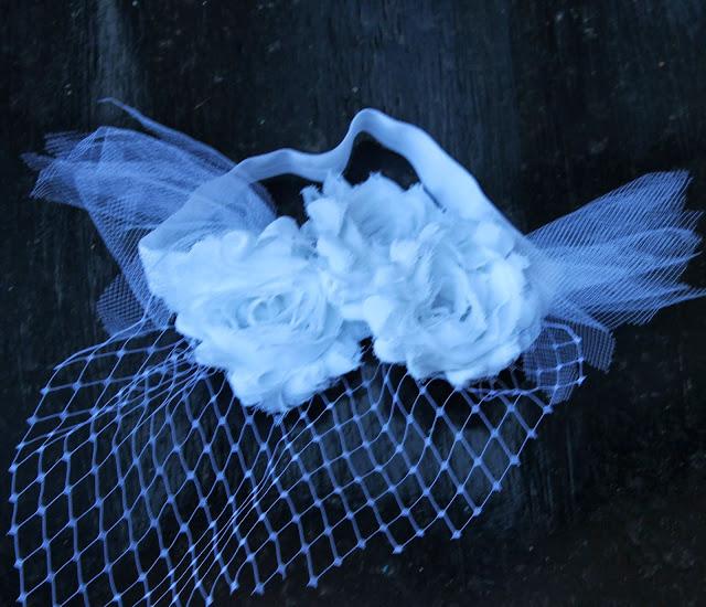 DIY floral veil