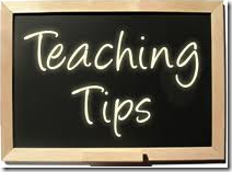 teaching tips sign