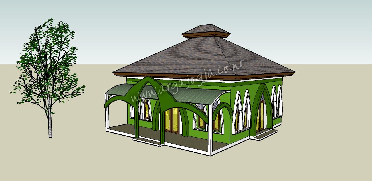 desain rumah minimalis ukuran 8x9