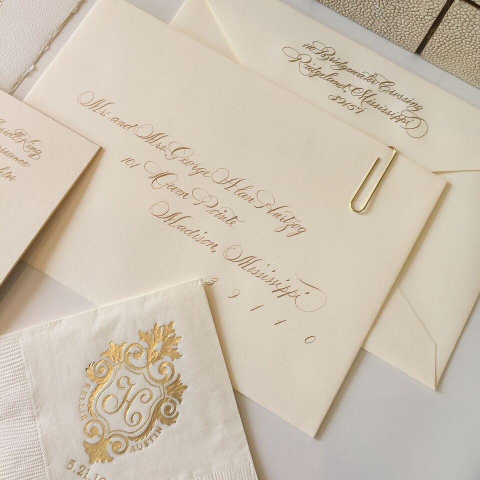 Kellie King and Austin Hartzog Wedding Invitations | Fresh Ink ...