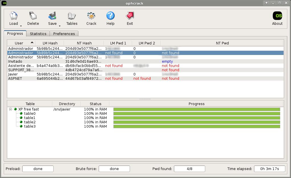 Ophcrack obtener contrase as de windows el mundo en bits - Con la contrasena puedo sacar el pase ...