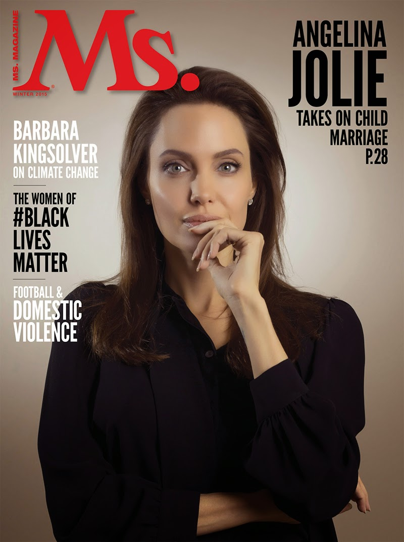 Actress, Filmmaker @ Angelina Jolie for Ms. Magazine Winter 2015