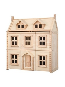 MyHabit: Save Up to 60% off Dollhouses + Decor by Plan Toys: Victorian Dollhouse - Three  floors including the attic, each floor is accessible with opening  panels and realistic windows that slide open and shut, attic space can  be made into any kind of room your child desires.