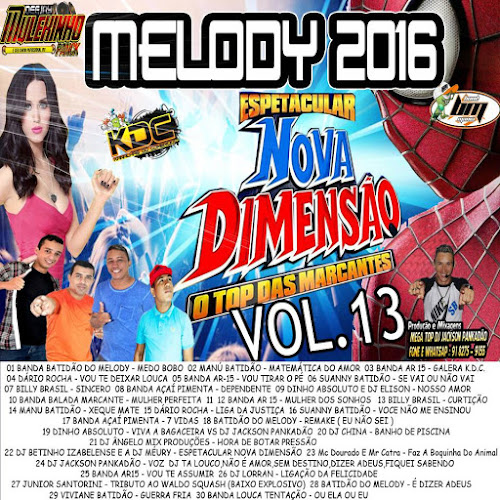 CD NOVA DIMENSÃO MELODY VOLUME 13