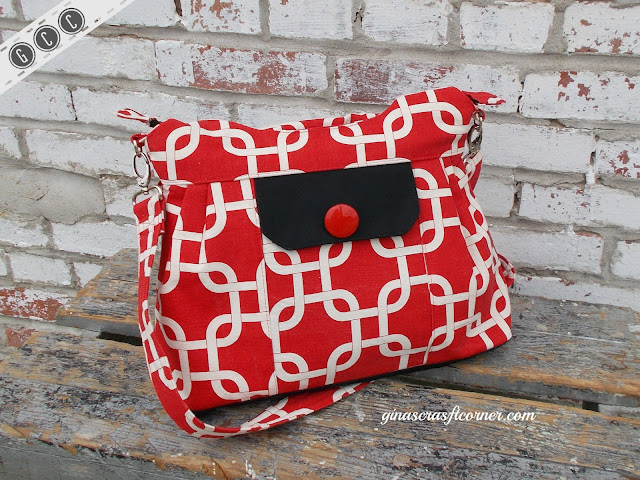 A Fun Red Concealed Carry Purse by GCC, ginascraftcorner.com
