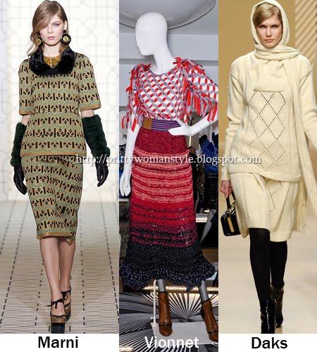 Плетени костюми в ретро стил 60-те