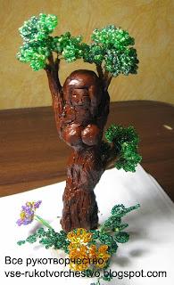 Лесная нимфа - дерево из бисера