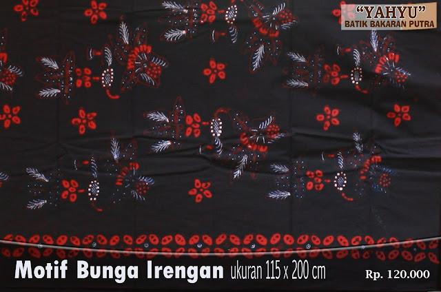 Batik Bakaran Bunga Irengan ~ Batik Bakaran Yahyu Juwana