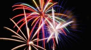 add fireworks display in blogger