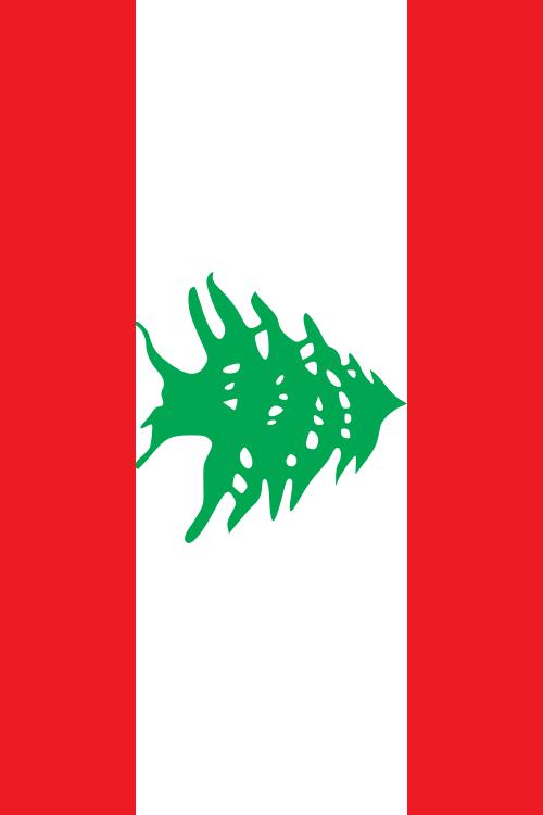 bandera de Libano para imprimir