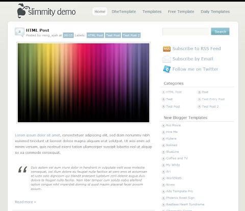 Simple Blog Blogger Theme