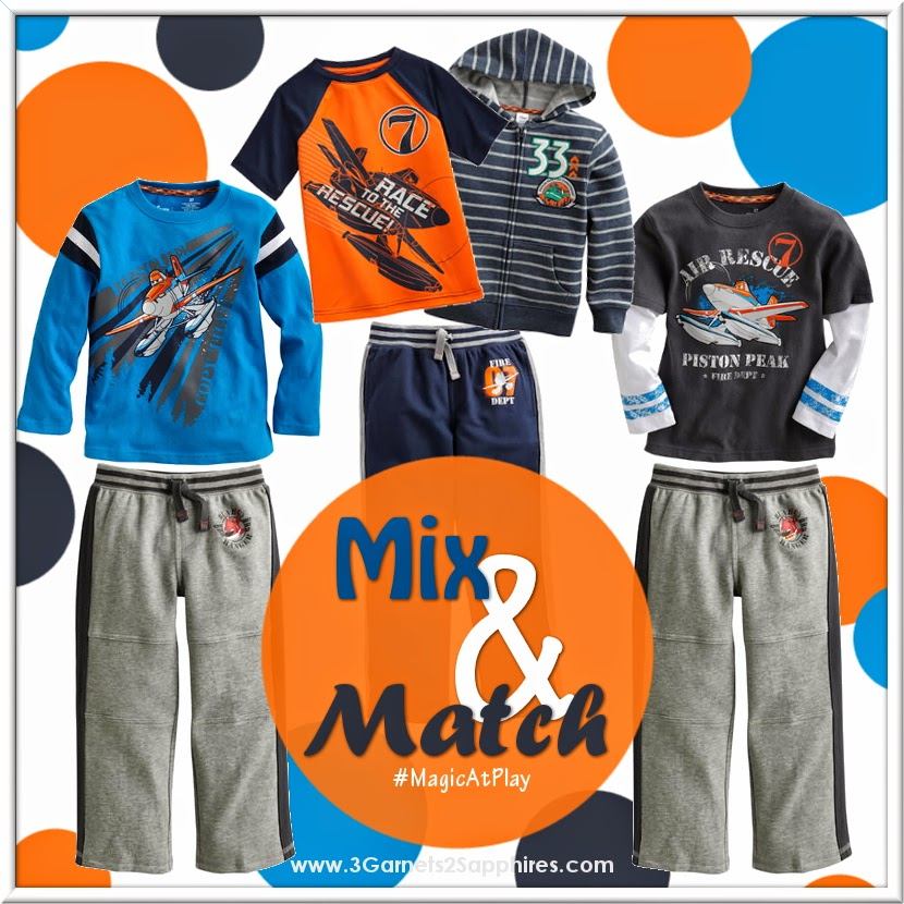 Kohls Disney Jumping Beans Planes Fire and Rescue Boys Fashions #MagicAtPlay