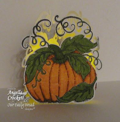 ODBD Pumpkin Single, ODBD Custom Pumpkin Die, Project Designed by Angie Crockett