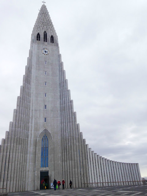 Hallgrimskirkja, the cathedral in Reykjavik which was finished being built in 1986