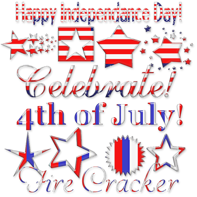 Dangerously Delicious Designz: JULY 4TH WORD ART 2 WITH DINGBATS