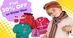 Firstcry : Flat 30% OFF on winter wear for baby kids product