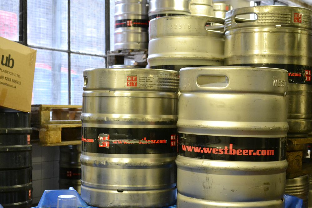 west brewery kegs drums beer doors open day glasgow