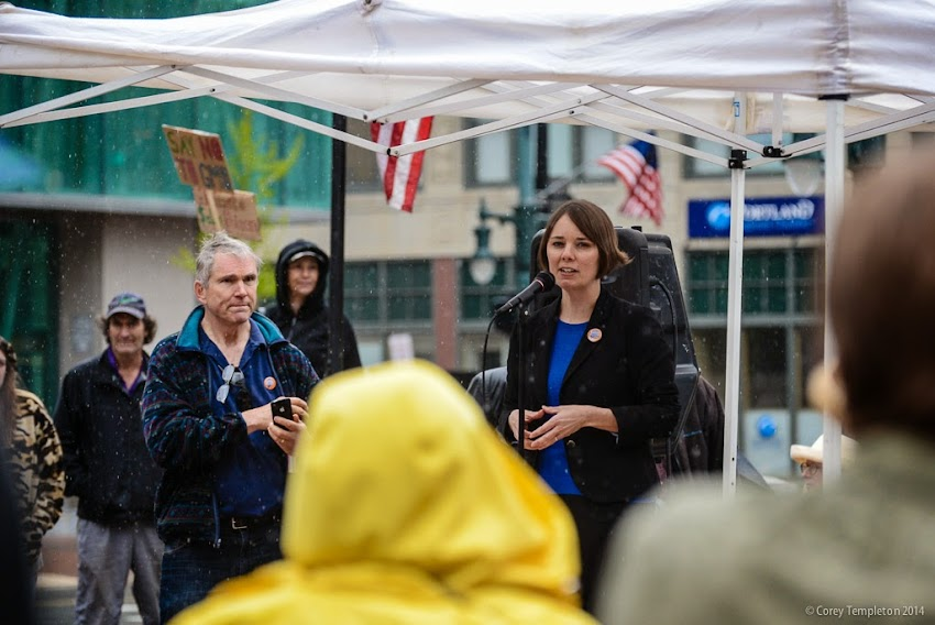 Shenna Bellows US Senate Candidate Maine In Portland, Maine May 2014 March Against Monsanto Rally photo by Corey Templeton