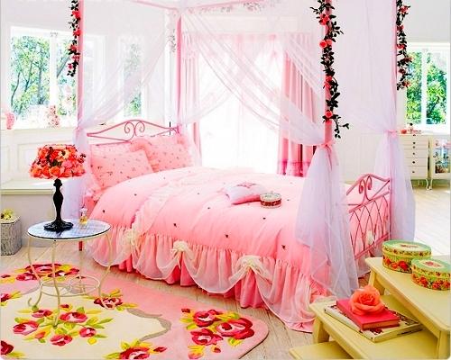 DORMITORIO DE PRINCESA via www.dormitorios.blogspot.com