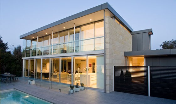 Concrete structures design glass house modern house for Modern glass house designs