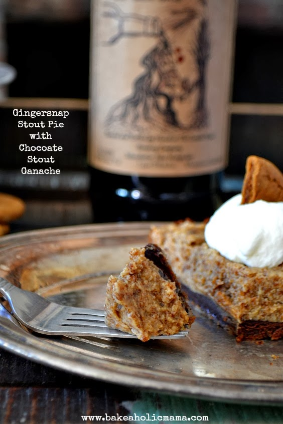 Bakeaholic Mama: Gingersnap Stout Pie with Chocolate Stout Ganache