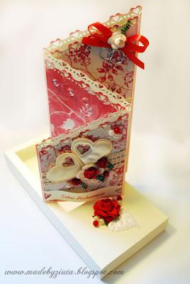 kartki okolicznościowe, kartka składaczek, barbara wójcik, ślub, kartka ślubna