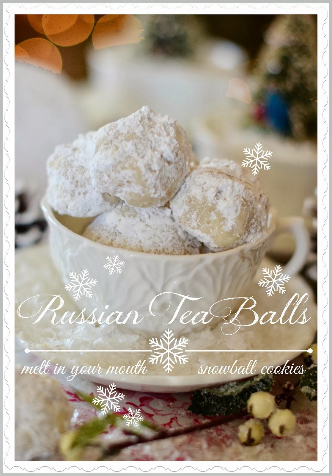 Russian Tea Ball Cookies Stonegable