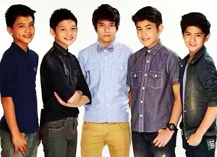 Gimme 5 members (l-r): Brace, Joaquin, Nash, Grae and John