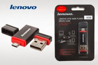 Buy Lenovo 8GB Pendrive with Dual Flash Drive at Rs.399 : Buy To Earn