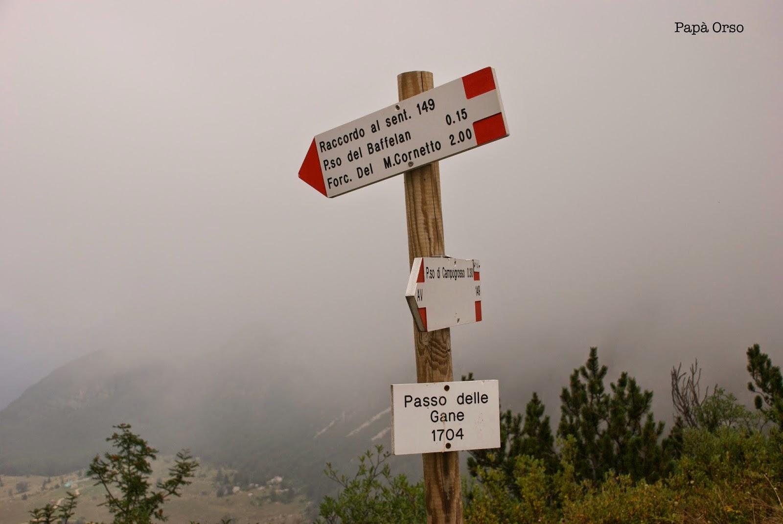 cartelli in montagna