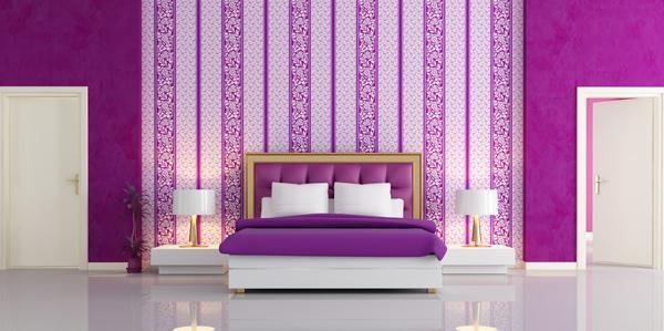 warna cat tembok kamar tidur romantis rumah idaman
