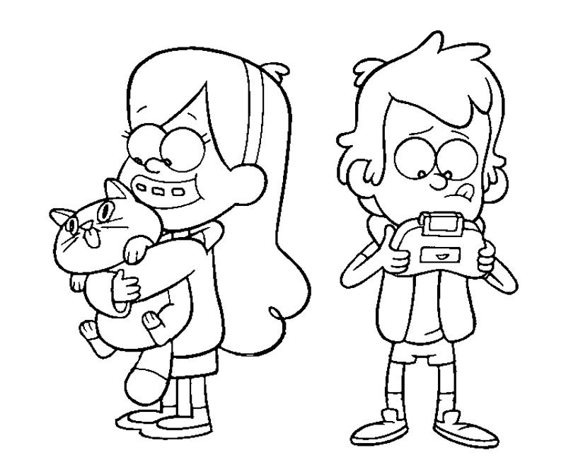 gravity falls coloring pages free - photo#15