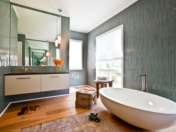 Turning Houses Into Homes Bathroom Tiling Ideas