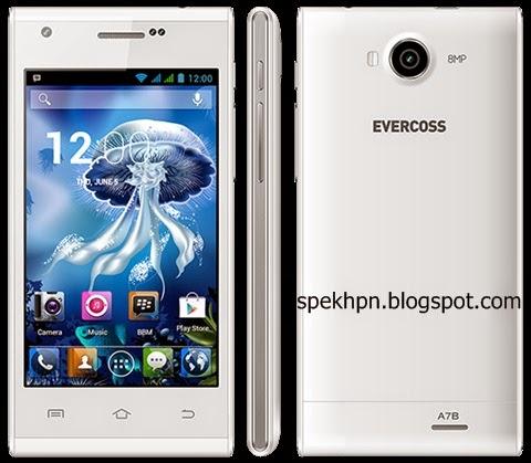 Spesifikasi Dan Harga Evercoss A7B HP Android Kamera 8 MP