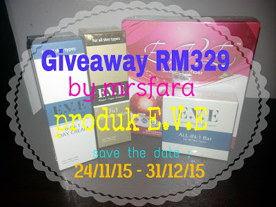 Giveaway by mrsfara bernilai RM329
