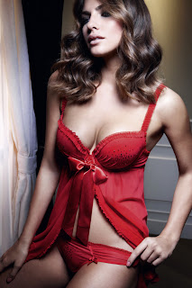 hot Alyssa Miller for Manor Christmas Lingerie
