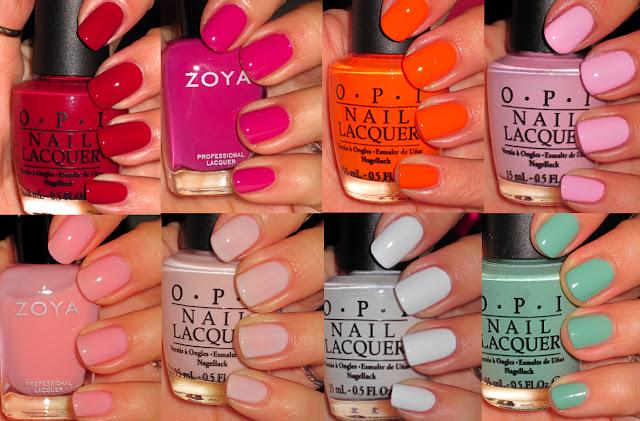 Bright Summer Nail Polish - OPI and ZOYA