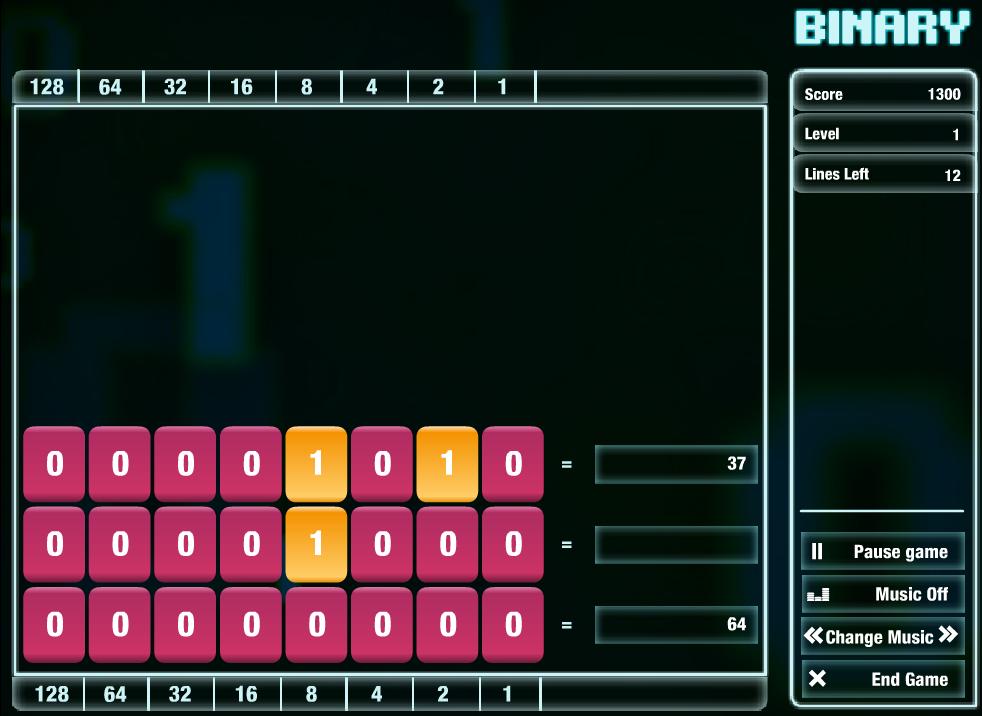Το παιχνίδι Cisco Binary Game είναι ένα παιχνίδι για τη διδασκαλία του δυαδικού συστήματος αρίθμησης