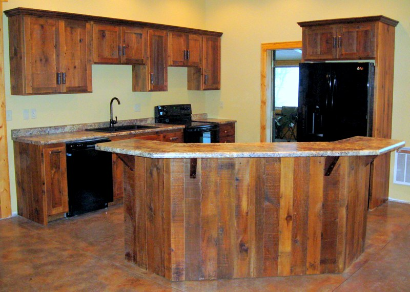 Rustic Kitchen Cabinets Reclaimed Wood Kitchen Cabinets From Barnwood