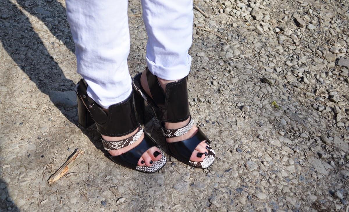 Topshop Snakeskin Heels