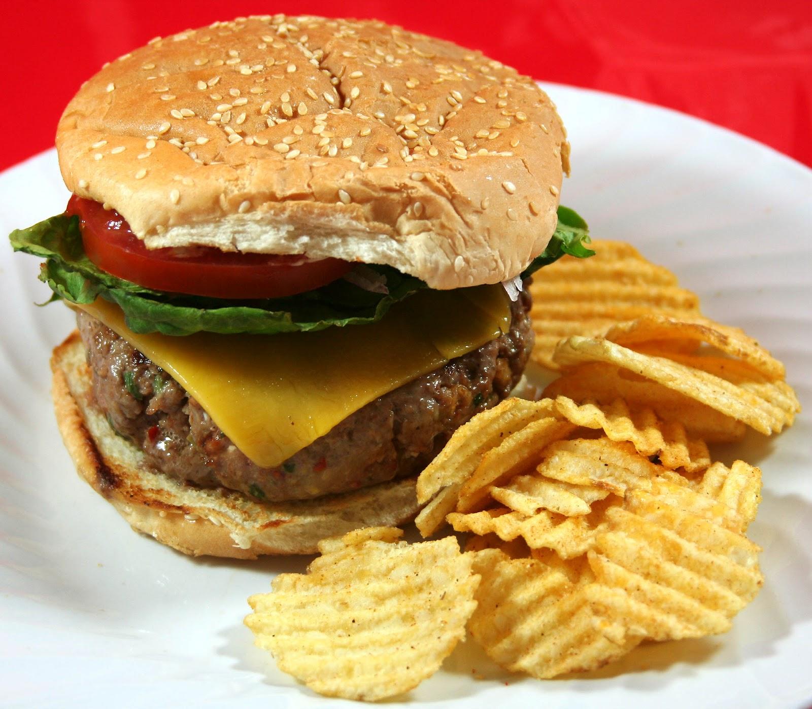 Potato Chip And Onion Dip Burgers Recipe — Dishmaps