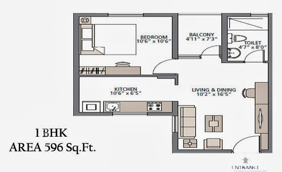 Foundation Dezin Decor 1 Bhk Flats Floor Layouts