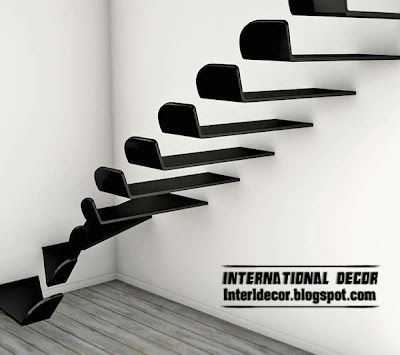 Interior stairs, Flying staircase, modern interior stairs